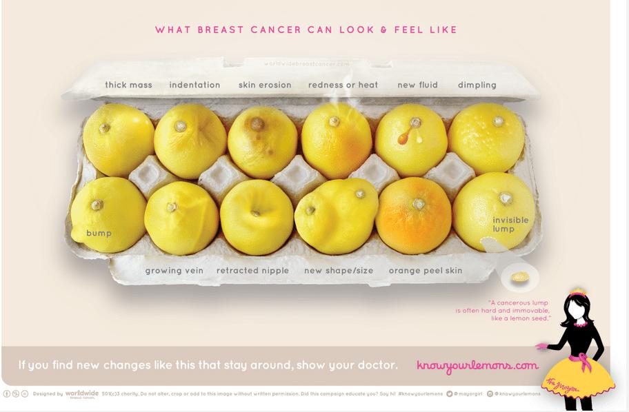 Prevenzione cancro al seno: dillo con un limone