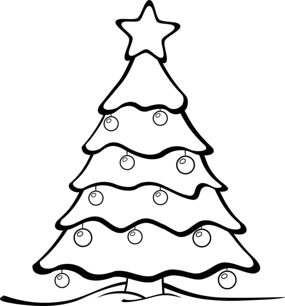 Albero Di Natale Disegno Da Colorare.Disegni Di Natale Da Colorare