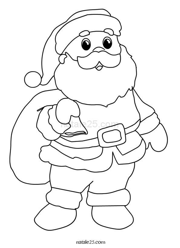 Peppa Pig Babbo Natale Da Colorare.Disegni Babbo Natale Da Colorare