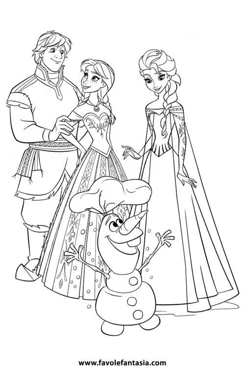 Disegni Da Colorare Frozen E Disegni Da Colorare Olaf